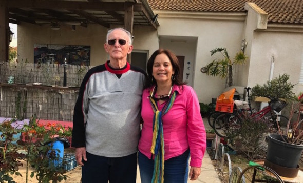 Saúl Cohen, quien llegó a Israel en 1953 y Laura Lotem. Foto: María Luisa Arredondo/Latinocaliforniacom