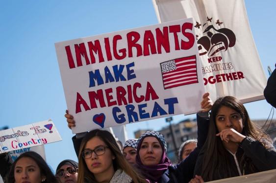 Manifestaciones a favor de la reforma migratoria.