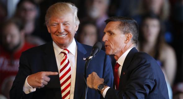 Trump y Flynn. Foto: Politico.com.