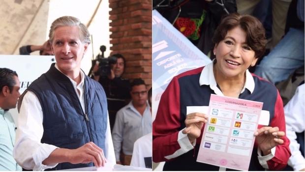 El priista Alfredo del Mazo y la candidata de Morena, Delfina Gómez protagonizaron una cerrada contienda en el Estado de México.