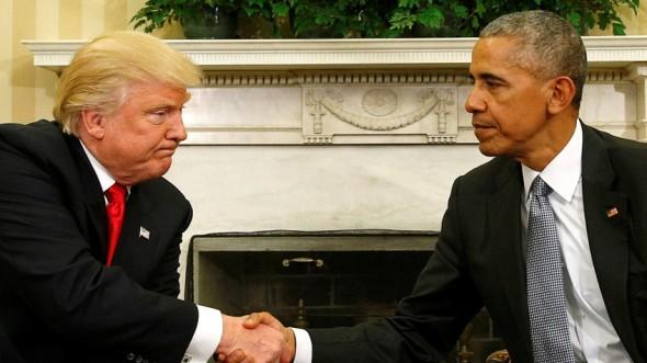 Trump en la Casa Blanca, cuando conoció a Obama.