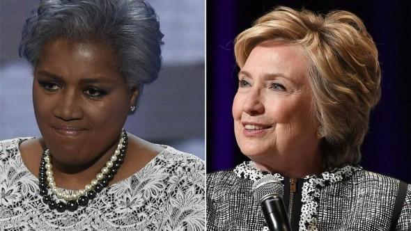 Donna Brazile y Hillary Clinton. Foto: Facebook.