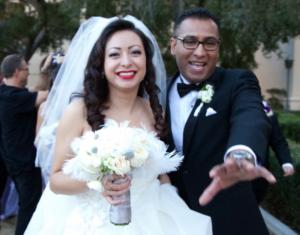 Ana y Juan Fernando Romero el día de su boda. Foto: Cortesía d pana Romero.