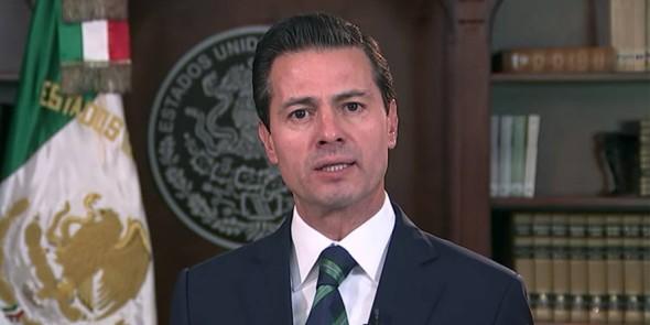 Peña Nieto durante el mensaje televisado para responder a Trump.
