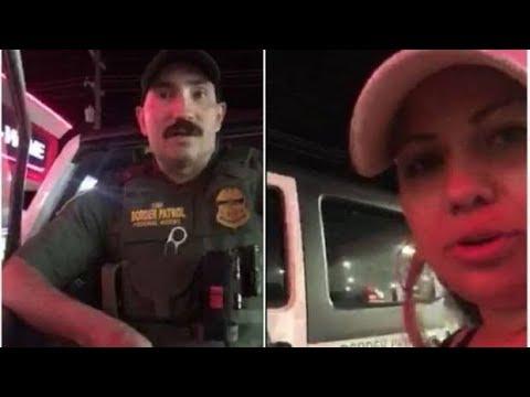 En esta composición fotográfica se muestra al agente O'Neal, quien cuestionó a un par de ciudadanas estadounidenses (una de las cuales aparece en la imagen) por hablar español en una tienda en Montana. Foto: Tomada de internet.