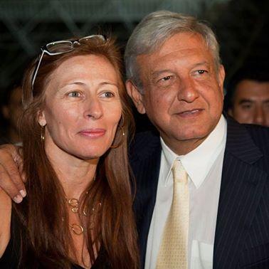 Tatiana Clouthier con AMLO. Foto: Facebook.