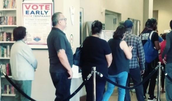 Las votaciones por adelantado iniciaron el sábado 20 de octubre en Nevada. Foto: David Torres/America's Voice