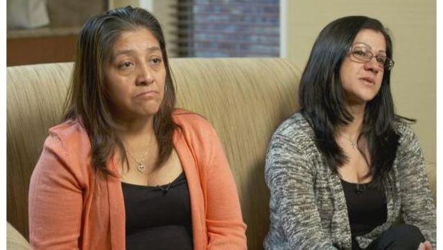 Victorina Morales (izq.) y Sandra Díaz son las empleadas de Trump que han empezado a ahablar sobfre las anomalías laborales en el Club de Golf que el presidente tiene en Bedminster, Nueva Jersey. Foto: Tomada de Internet.