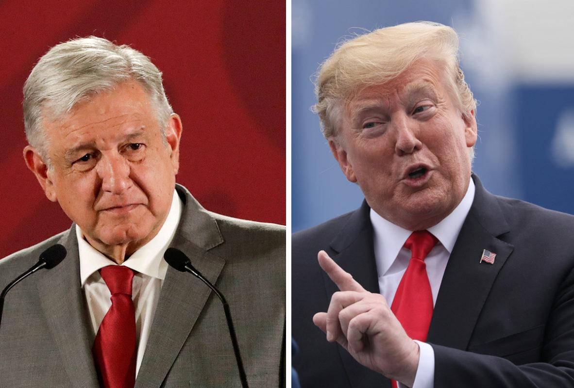 """El presidente de México, Andrés Manuel López Obrador (izq.) ha preferido responder de manera diplomática a su homólogo de Estados Unidos, Donald Trump, tras el nuevo ataque de este al decir que México """"se ha aprovechado"""" de EEUU. Foto: Tomada de internet."""