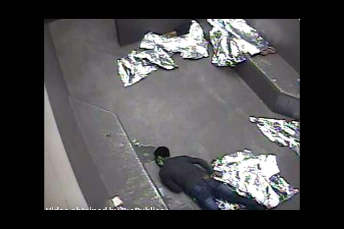 La imagen muestra los momentos de agonía que sufrió el adolescente guatemalteco Carlos Gregorio Hernández Vázquez en un centro de detención de CBP en Texas. Murió en mayo pasado. Foto: Tomada de internet.